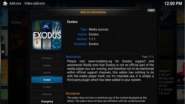 Exodus Not Working Error