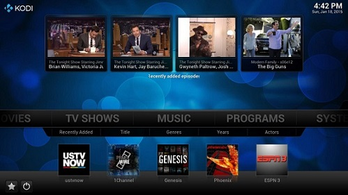 Download Kodi Live TV Addons