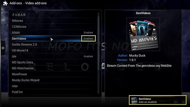 Install Genvideos Addon for Kodi Addon