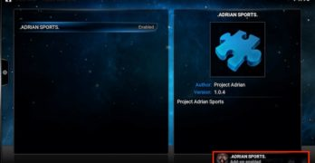 Install Adrian Sports Kodi Addon for XBMC (Tutorial)