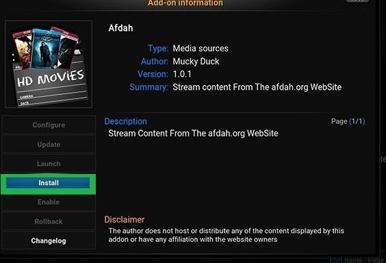Install Afdah Kodi Addon