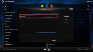 kodi addon select none