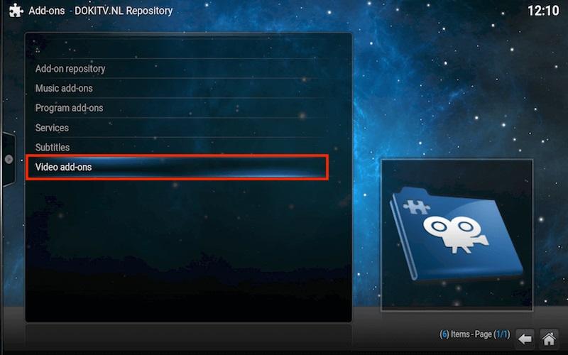 video addon kodi