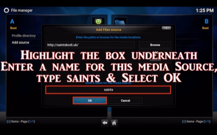 Saints Build Kodi Addon