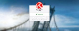 trakt linked kodi