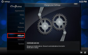 addons moneysports kodi settings