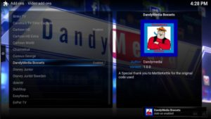 dandymedia addon enabled