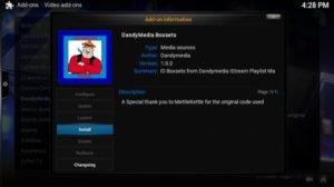 dandymedia install