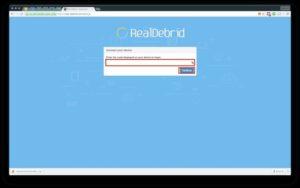 enter code real debrid