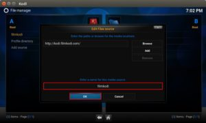 enter name filmkodi