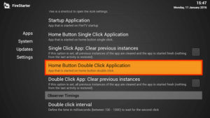 home button double click