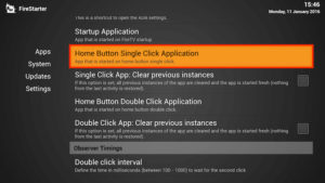 home button single click