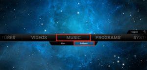 music addons kodi