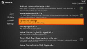 open adb settings