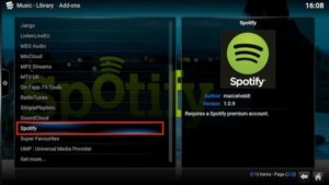 spotify addons choice