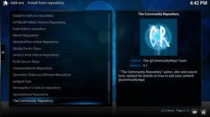 community repo option