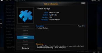 football replays install