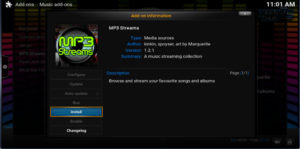 mp3 streams install