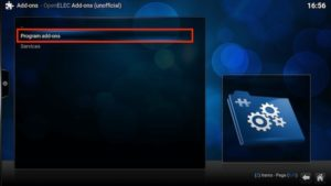 openelec program addons
