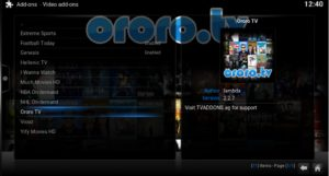 ororo video addon