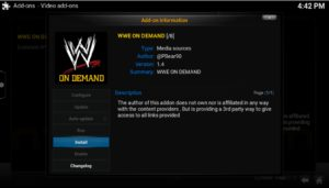 wwe on demand install
